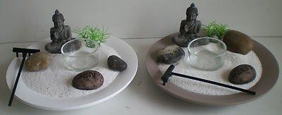 NUEVO jardín zen de Buda con piedras y portavelas ch4213