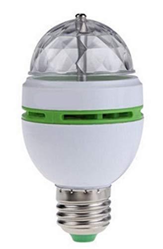 LED lamp voor gloeilamp fitting met bewegende Disco feestverlichting (groen+rood) op 220V