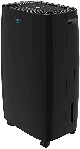 Cecotec Deshumidificador Big Dry 4000 Expert Black. Temporizador 24h, 10L/día, Depósito extraíble 2,5L, Cobertura 105m3/h, Gas R290, Silencioso, Humedad 40% a 80%, Pantalla LED, Apagado Automático