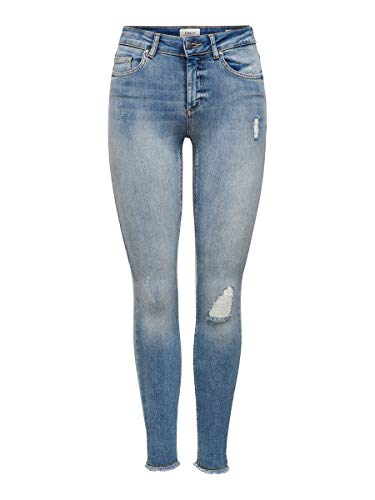 ONLY Female Skinny Fit Jeans ONLBlush Knöchel- L32Light Blue Denim