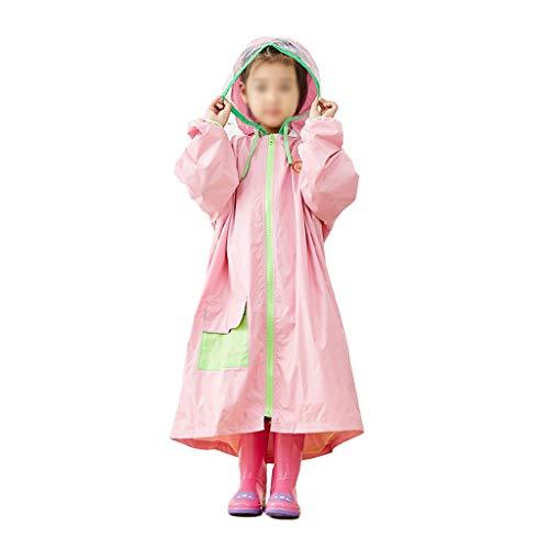 Zz Regenjas voor kinderen jongens en meisjes regenjas met capuchon poncho mantel waterdichte regenjas kinderen regenbescherming unisex geel - blauw - roze leeftijd 3-9 jaar