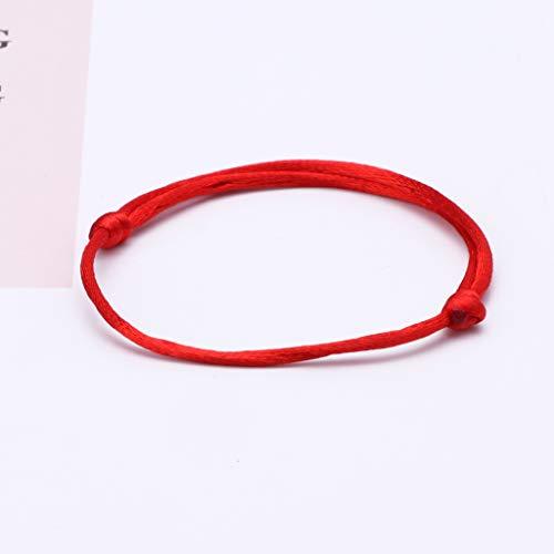 LessLIFE DIY cuerda roja, 10 piezas Kabbalah rojo cadena pulsera mal ojo joyería Kabala encanto joyería moda