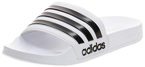 Adidas Adilette Shower, Herren Dusch- & Badeschuhe, Weiß (Footwear White/Core Black/Footwear White 0), 42 EU