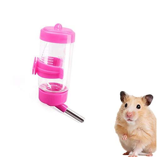 PPING Bebedero Cobaya Bebedero Conejo Botella de Agua para Ratas Animal Botella de Agua Conejo Accesorios Jaula Bebedor de Agua Random Color,80ml
