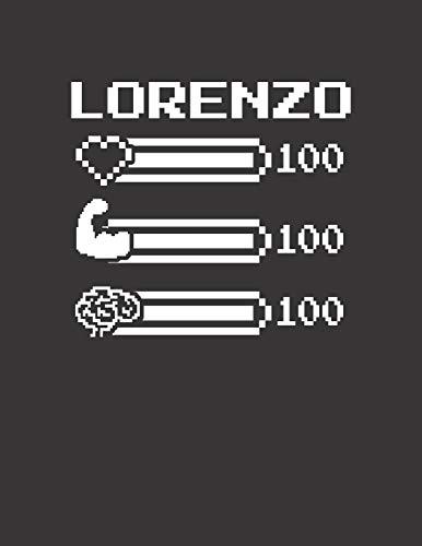 LORENZO: Pixel Retro Game 8 Bit Design Blank Composition Notebook College Ruled, Name Personalized for Boys & Men. Gaming Desk Stuff for Gamer Boys. ... Gift. Birthday & Christmas Gift for Men.