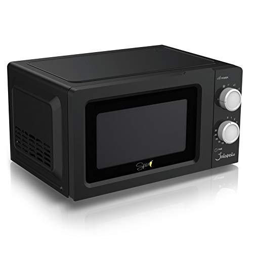 SPICE JALAPENO forno Microonde Microwave multifunzione combinato con GRILL 20 litri (20 L Black)