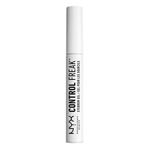 NYX Professional Makeup Augenbrauengel, Control Freak Eyebrow Gel, Klarer Brow Setter und transparente Mascara, Für gezähmte Augenbrauen und fixierte Augenbrauenfarbe, Ohne Kleben oder Bröckeln, 10 ml