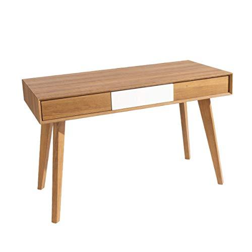 Pureday Schreibtisch Colorado - Sekretär mit 3 Schubladen - Holz - Braun