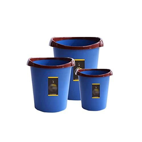 Cubos de basura para exteriores Cubos de basura 3Bolsas de plástico para basura Conjuntos de accesorios de baño Papeleras Cubos de reciclaje de interior para baño, dormitorio, dormitorio, colegio, ofi