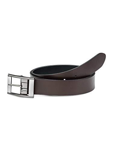 Walbusch Herren Wendegürtel einfarbig Braun/Schwarz 105cm