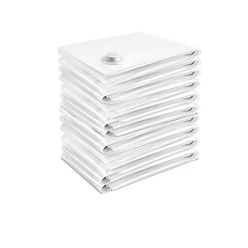 Bomba de vacio Bolsas de ahorro de espacio Bolsas de almacenamiento de vacío Ropa de viaje Bolsa de sellador de compresión media 3/5/8/10 Paquetes Bolsas al vacio ropa ( Color : 10 , tamaño : Medio )