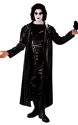 Déguisement de film d'Halloween The Crow avec le vengeur gothique et rock pour hommes