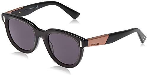 Diesel Sonnenbrille DL0228-01A-51 Rechteckig Sonnenbrille 51, Schwarz