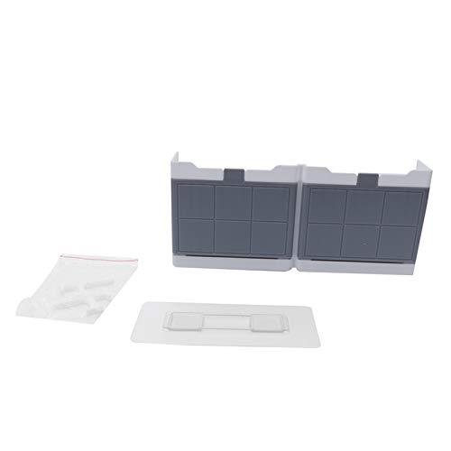 Hyuduo Soporte para Ahorro de jabón para Plato de jabón, Soporte para jabón de plástico ABS con Ganchos de Tapa abatible, Organizador de Estante para Caja de Drenaje para Colgar en la Pared(Dual Box)
