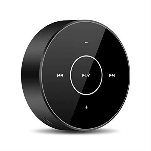Mirage Teléfono móvil inalámbrica Bluetooth Mini Altavoz de Audio portátil de Pantalla táctil de la Tarjeta del subwoofer Mini cañón de Acero de Oro (Color : Black)