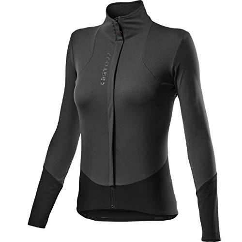 castelli Damen Beta Ros W Jacket Shirt, Dark Gray Black, M