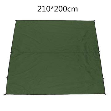 ExcLent 210 * 200Cm Tenda Tarp Pioggia Ombrellone Riparo Amaca Copertura Per Campeggio Impermeabile - verde