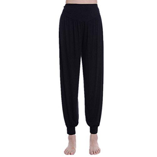 pantaloni donna hip hop JLTPH Pantaloni Larghi Donna Harem Baggy Hip Hop Lunghi Pantaloni Morbida Modal Elastico Yoga Pantaloni Danza Pantaloni Workout Sportivi Jogging Pantaloni