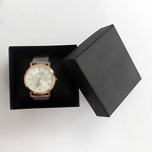 YOFEE WBV AYDD 20 STÜCKE Uhrenkasten Dekoration Papier Geschenkbox Armband Box (Color : Black)