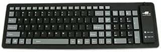 GOWOS Mid Size Flexible Keyboard, Black/Gray