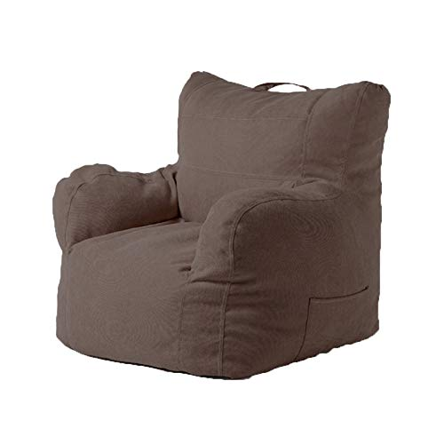 DTLEO Classic Bean Bag Chair Sofa Cover,No Filler 8 Colors 807863cm (No Filler) for Reading Listening to Music Sleeping and Resting for Adults and Kids,Brown
