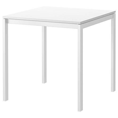 IKEA MELLTORP Mesa de comedor en color blanco, 75 x 75 cm.