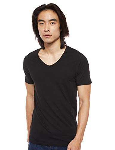 Jack & Jones Jones - Camiseta de manga corta con cuello pico para hombre, Black C N 010, L / 52