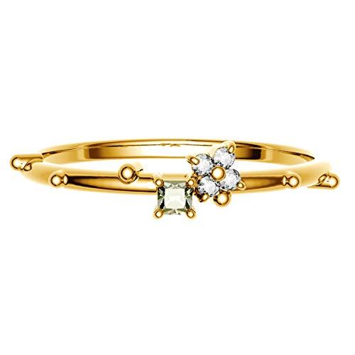 [ココカル]cococaru K10 イエローゴールド ダイヤモンド リング 0.05ct スクエアカット 指輪 7号 ピンキーリング 天然 ダイヤモンド 日本製