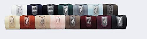 Eskadron Fleece Bandagen, Arbeitsbandagen 4er Set, Fleecebandagen Größe Warmblut, Farbe racinggreen