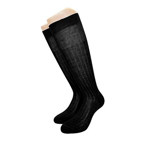 Best Calze 6 pares de calcetines largos acanalados para hombre, de algodón...
