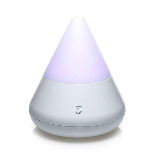 Pajoma, 62527, Diffusore di Profumo con LED Che Cambia Colore, Altezza 15,5 cm, Bianco (Weiß)