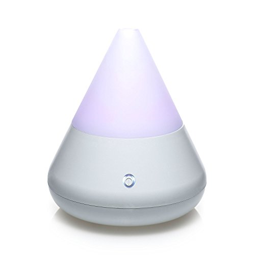 pajoma Aroma Diffuser, Ultraschall Luftbefeuchter mit LED Licht, Humidifier Aromatherapie Diffusor (Weiss)