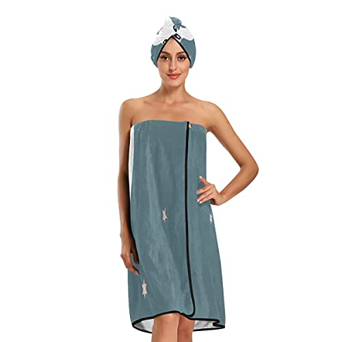 Albert Brooks Wife Kimberly World Premiere - Juego de 3 toallas de baño ajustables