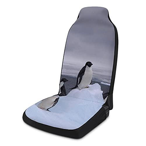 Fundas de asiento de coche suaves para mujeres y hombres, paquete de 2, protectores de asiento universales duraderos para decoración de interiores para SUV, sedanes, camiones, furgonetas, pingüinos