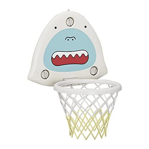 Hellery Juego de aro de Baloncesto de Montaje en Pared, Tablero de Baloncesto Ajustable, Juguetes de Red con diseño de Ventosa de Baloncesto y Bomba para - Blanco