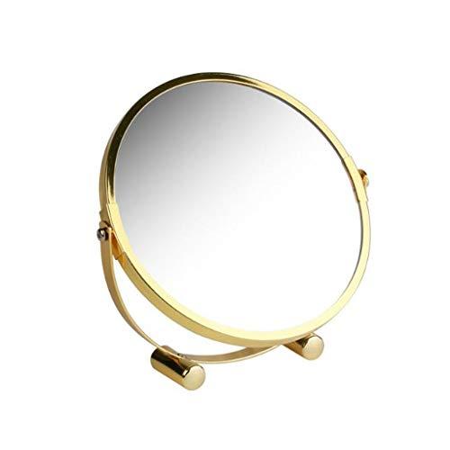 LYN Make-up Spiegel, Staande Cosmetische Spiegel 2x Vergroting, Dubbelzijdige Make-up Spiegel, Vrijstaande Scheerspiegel Vanity Spiegel