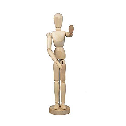 KEISL Maniqui Dibujo,Muñeco articulado,Marioneta de Madera, Maniquí flexible,ideal como Modelo para Dibujar - Perfecto Para Principiantes,Profesionales,Artistas (20cm)