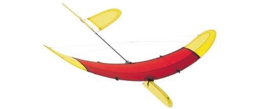 HQ Kites Airglider Series 40 Planeador Color: Rojo y Amarillo, Divertidas Actividades al Aire Libre para Edades a Partir de 6 años