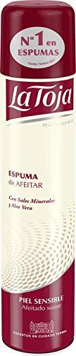 La Toja - Espuma Afeitado Sensible con Aloe Vera y Sales Minerales - 300ml