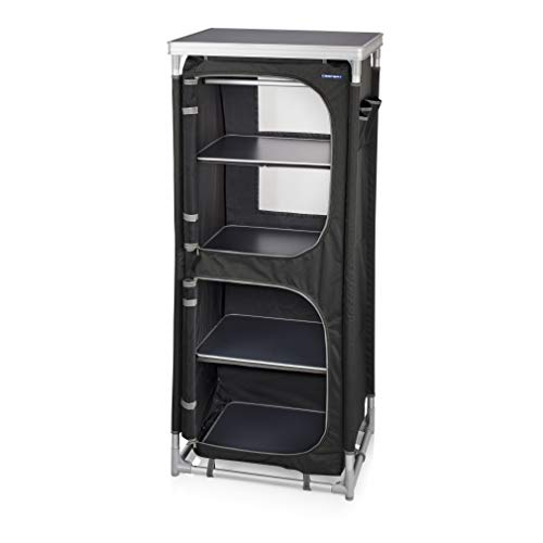CamPart CU-0720 Travel Camping Cupboard with 4 Adjustable Feet and 4 Layers