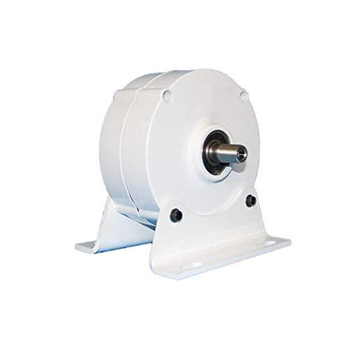 Generador de imán permanente de 200 W 12 V 24 V 3 fases sin engranaje generador eléctrico con base alternador de CA Homeuse para turbina de viento de agua (12 V con base)