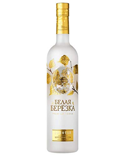 Vodka White Birch Gold 0,7L russischer Premium Wodka mit Birkensaft