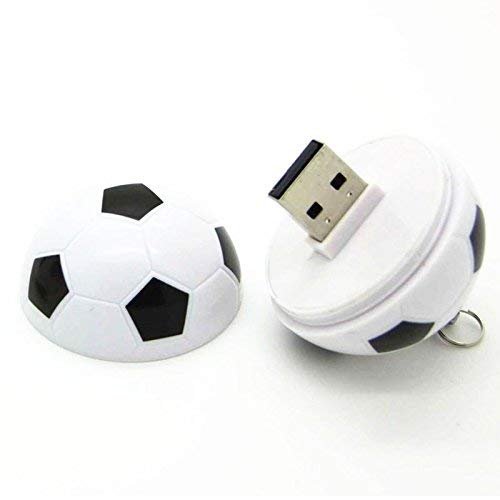 Print My Gift™ 64GB USB 2.0 Flash Drive, Foot Ball Shape Pendrive High Speed USB Stick Pendrive/Gift Pendrive (64GB) (Black & White)