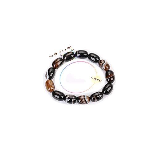 LLXXYY Stenen armband, natuursteen armband tijgeroog bruin strepen kristallen parels ketting mode sieraden mannen persoonlijkheid amulet vintage geschenk