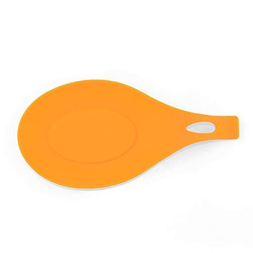 Kongqiabona-UK Löffelablage aus weichem Silikon für Kochutensilien Orange