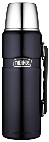 THERMOS Thermoskanne Edelstahl Stainless King, Edelstahl blau 1,2L, Isolierflasche mit Trinkbecher 4003.256.120 spülmaschinenfest, Thermosflaschehät 24 Stunden heiß, 24 Stunden kalt, BPA-Free