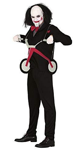 shoperama Billy Mörderpuppe mit Dreirad Herren Kostüm Killer Horror Thriller Film Halloween, Größe:M