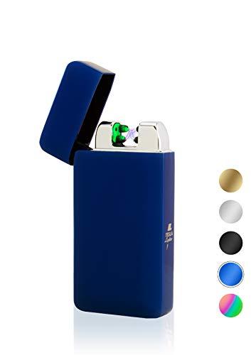 TESLA Lighter TESLA Lighter T10 Lichtbogen-Feuerzeug mit Photosensor, elektronisches USB Feuerzeug, Double-Arc Lighter, wiederaufladbar Blau Blau