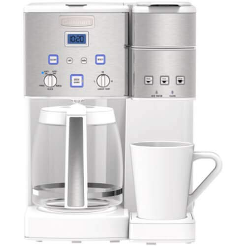 Cuisinart SS15WP1 Coffee Center™ 12 Cup Coffeemaker and Single-Serve Brewer - White