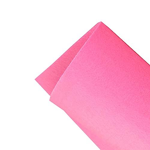 JUANJAUN Hojas de Fieltro Tela de Fieltro Patchwork Costura Hoja de Fieltro de poliéster para Manualidades 5 mm de Grosor para Manualidades y Manualidades(Size:5mm,Color:No. 12 Light Pink)